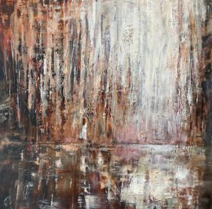 Julie Cross Reflected Mystery abstract autumn painting