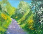 My Morning Ride John Connolly 76x60 framed 2 rural pathway painting