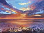 John Connolly SUNSET OVER MORECAMB BAY painting