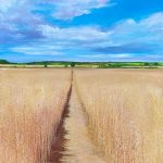 John Connolly Short cut across the field John Connolly 80x80cm unframed painting