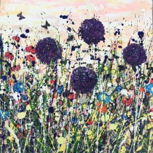 Tracey Thornton Abundance allium flowers painting