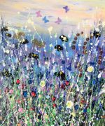 Tracey Thornton Lockdown Blues floral painting