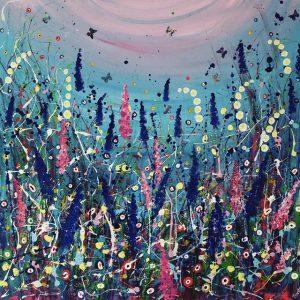 Tracey Thornton Reach For The Sky modern floral art
