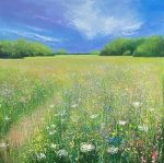 John Connolly WILD FLOWER MEADOW painting