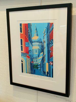 Jennie Ing St Pauls From Watling Street framed