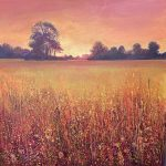 John Connolly Sunrise with Alice meadow painting