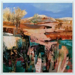 Celia Wilkinson Blue Skies Calling framed