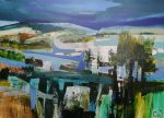 Celia Wilkinson Break in the Clouds 100x140cm abstract painting