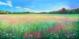 John Connolly Field of Dreams meadow painting