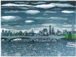 Jennie Ing Passing Storm Waterloo Bridge artwork