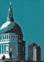 Jennie Ing St Pauls Cathedral With Barbican Teal print