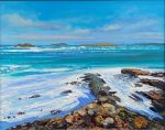 John Connolly Scilly on the Rocks seascape painting